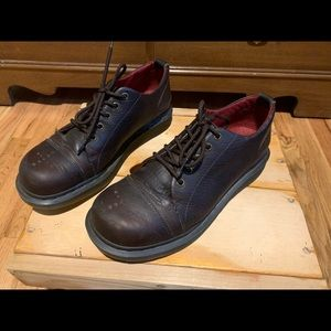Women's Dr Martens brown loafers size 10